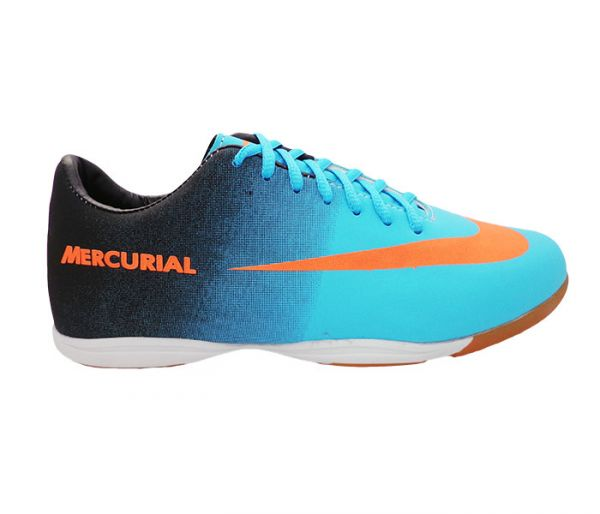c078a450d58ac Chuteira Futsal Nike Mercurial Preto e Verde Água MOD: 11771 - LC ...